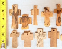 "2-3"" Solid Wood Crosses Set of 10 