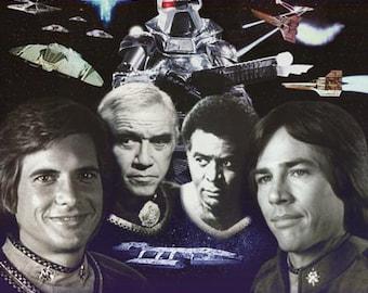 Battlestar Gallactica 1970's Vintage Poster