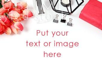 Styled Stock Photography / Print Background / Pink Flowers / Photo Styling / Instagram / Blog / Social Media / JPEG Image / StockStyle-674