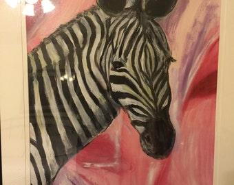 Zebra in Pink