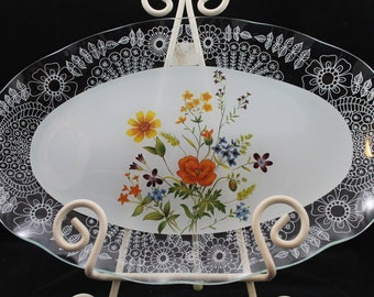 Beautiful Vintage 1980's Lefton Platter
