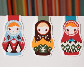 Matryoshka | Russian Doll Bookmark Pack
