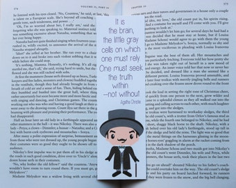 Hercule Poirot Quote Bookmark | Agatha Christie