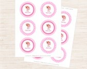 Strawberry Shortcake Party Thank You Tags | Strawberry Shortcake Inspired Party Printables | Girl Birthday | Gracie Lee Design