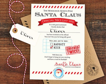 editable nice naughty certificates santa letter christmas