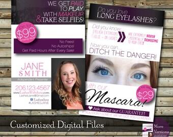SALE Custom Make Up Blitz Card Design   Dark Version    Customer Postcard Printable Digital Files Add On Prints Option