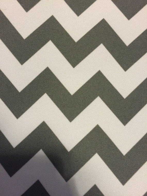 Gray White Chevron Indoor Outdoor Upholstery Drapery Fabric - Sold ...