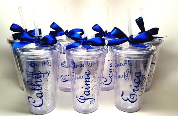 Personalized Plastic Tumbler Cup With Lid And Straw Double