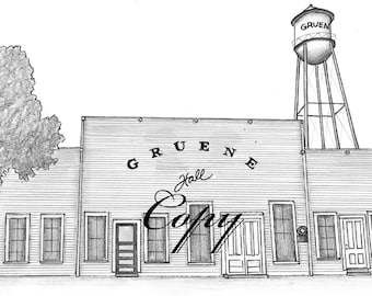 Gruene Hall Print