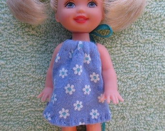 Barbie Kelly Clothes Sundress Periwinkle Blue with White Daisy Print - NO DOLL