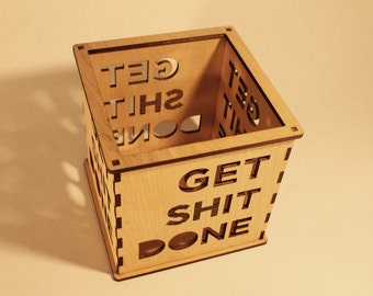 Get (sh)it Done - Pillar Candle Holder