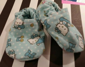 Blue Hello Kitty Baby booties/slippers/shoes