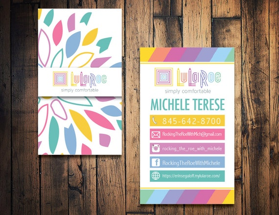 Lularoe business card lularoe calling card by thewrightinvite for Lularoe name cards