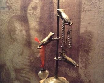 Antique Victorian Brass Hand Glove Holder