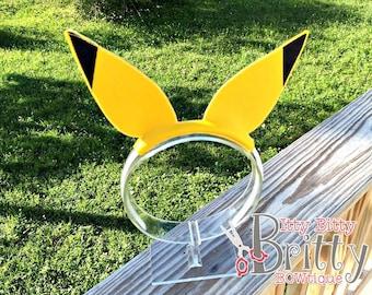 Pikachu inspired Ear headband - Pikachu costume