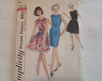 Vintage Simplicity Dress Pattern 5971