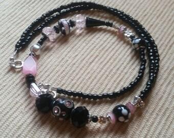 Pink n Black Necklace