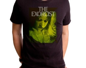 The Exorcist Green Regan (EXT0016-501BLK) Men's T-Shirt. scary movies, exorcist, halloween, thriller, fall, horror movies, evil,