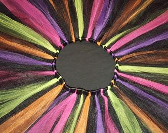 Trolls tutu - Black, purple, orange, pink & green neon Tutu - newborn, infant, adult - Halloween costume, birthday party