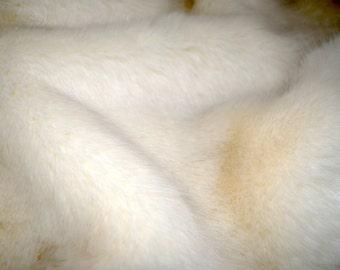 "Luxurious POLAR Fox FAUX FUR Fabric Swatch, Sample, 8"" X 10"" piece"