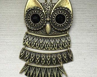 Owl Gold Hanging Necklace Bohemian