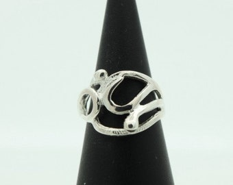 Designer Silver Abstract Ring by Ola Gorie (SKU633)