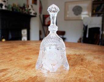 Large Vintage Crystal Dinner Bell