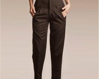 30% SALE, Boyfriend Pants, Pleated Pants, Suit Pants, Black High Waisted Pants, Black Trousers, Womens Trousers, Black Pants, Womens Pants