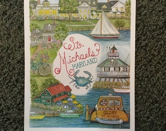 St. Michaels Maryland Print