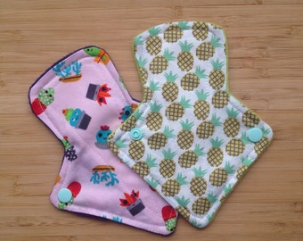 """pack of 2 6"""" cloth thong liners"""