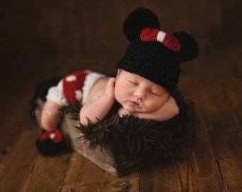 minnie mouse outfit newborn photo prop