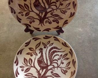 Vintage Chanticleer Rooster Homer Laughlin dinner plates
