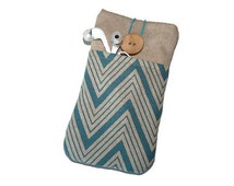Nexus 6 case / Nexus 5 Pouch / Fabric Case Nexus 6P / Nexus 5X Pouch / Nexus 4 Case Cover Pouch / Nexus 6P Fabric case Linen Chevron pockets