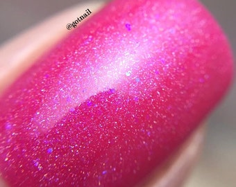 A Mother's Love ~ Home Collection ~ Bright Pink Holographic Nail Polish