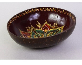Classic Oriental Decorative Multipurpose Handmade Coconut Shell Bowl (PC 05)
