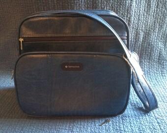 Vintage Samsonite Carry On Bag/Blue Samsonite Luggage