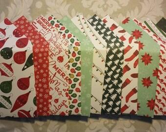 Set of 12 Small Christmas Tip & Gift Card Envelopes