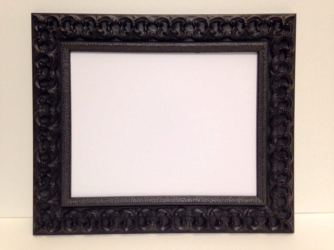 black ornate picture frame 3x5 4x6 5x7 8x10 11x14 16x20. Black Bedroom Furniture Sets. Home Design Ideas