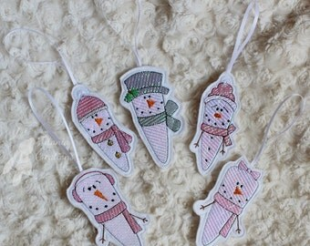 ITH Mylar Icicle Decorations Set of 5 Machine Embroidery Design Pattern 4x4 Hoop by Titania Creations. Instant Download