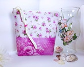 Oh So Feminine Pink Large and Tall Waterproof Cosmetic Pouch, Large Project Bag, Wet Bag, Multipurpose Zipper Pouch, Wash Bag, Makeup Bag
