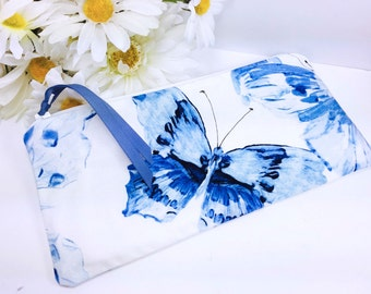 Fast Drying WET BAG, Folding Makeup Bag, For Reusable Feminine Pads, Butterfly Cosmetic Pouch, Waterproof Bag, Pencil Case, Project Bag