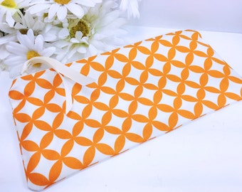 Qrange Quick Drying Wet Bag, Folding Waterproof Pouch, PUL Lining, Reusable Cloth Pad Pouch, Orange Cosmetic Pouch, Portable Travel Bag