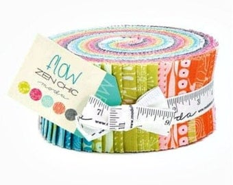 "Flow Jelly Roll (40 ~ 2 1/2"" Strips)  by Zen Chic for Moda - 1590JR"