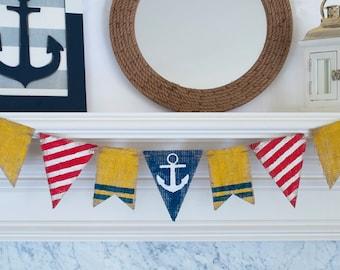 Nautical Banner, Anchor Banner, Nautical Baby Shower Banner, Lighthouse Banner, B285