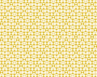 1 Yard Vintage Daydream by Design by Dani for Riley Blake Design- 5564 Gold Vintage Geometric