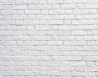 FREE EXPEDITED SHIPPING And Insurance ! 5 ft x 5ft White Brick Wall Vinyl Backdrop / Custom Photo Prop_001