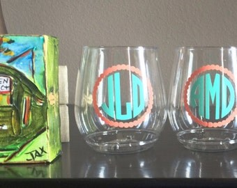 Special Order - Personalized, Custom Made, Monogrammed Wine Glasses (Set of 7)