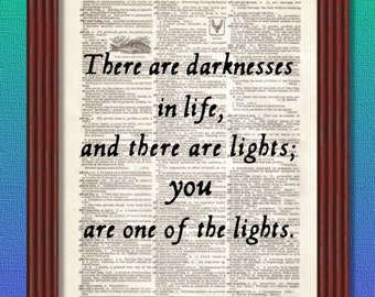 BUY 2 GET 1 FREE There Are Darknesses in Life Dictionary Art Print wedding Dracula Bram Stoker Quote Inspirational Decor