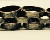 Perfectly round 50 States Quarter Rings. Sizes 7-12. Each ring is hand made to order.