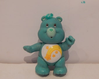 "Vintage Poseable 3 1/2""  PVC Care Bear Figure Wish Bear Kenner 1980s"